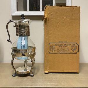 Vintage English Silver Coffee Carafe